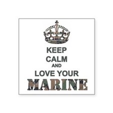 Keep Calm and LOVE Your Marine (woodland) Square S