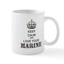 Keep Calm and LOVE Your Marine (woodland) Mug