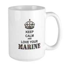 Keep Calm and LOVE Your Marine (woodland) Mug