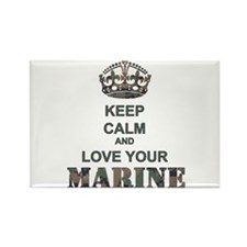 Keep Calm and LOVE Your Marine (woodland) Rectangl