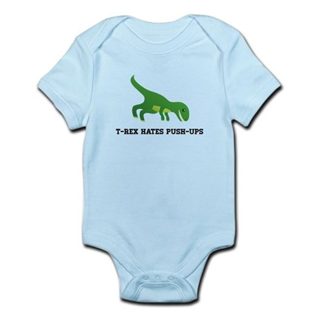 T-Rex Hates Pushups Infant Bodysuit