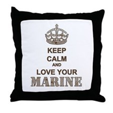 Keep Calm and LOVE Your Marine (desert) Throw Pill