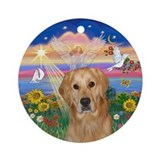 Autumn Angel - Golden (K) Ornament (Round)