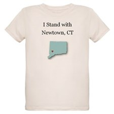 I Stand with Newtown, CT - blue T-Shirt