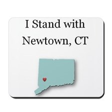 I Stand with Newtown, CT - blue Mousepad