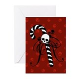 skull-candy-cane_bl.png Greeting Cards (Pk of 10)