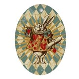 white-rabbit-vintage_13-5x18.jpg Ornament (Oval)