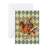 white-rabbit-vintage_13-5x18.jpg Greeting Card