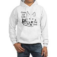 Paws4Critters Crazy Cat Lady Dog Diva Hoodie