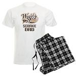 Scorkie Dog Dad Men's Light Pajamas