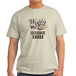 Scorkie Dog Dad Light T-Shirt