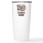 Scorkie Dog Dad Ceramic Travel Mug