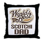 Scotchi Dog Dad Throw Pillow