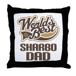 Sharbo Dog Dad Throw Pillow