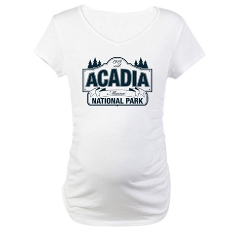 Acadia National Park Maternity T-Shirt