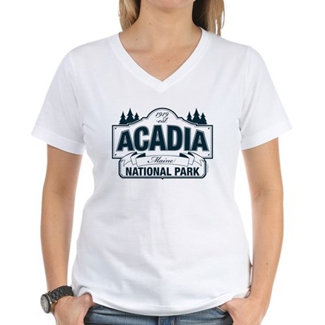 Acadia National Park Women's V-Neck T-Shirt