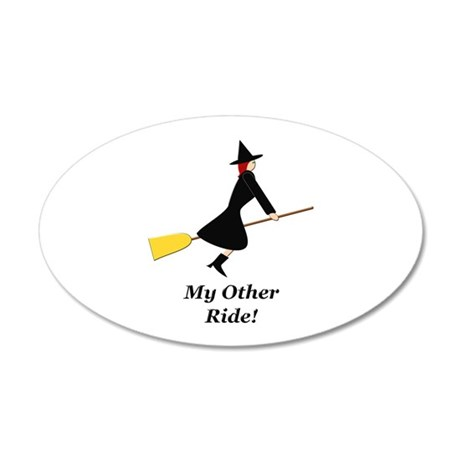My Other Ride Broom 20x12 Oval Wall Decal