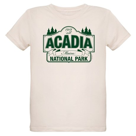 Acadia National Park Organic Kids T-Shirt