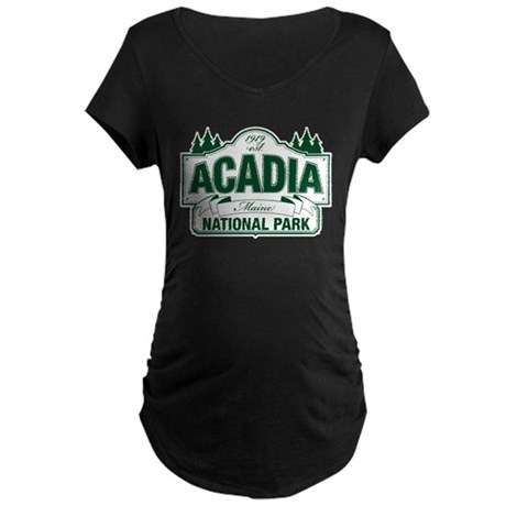 Acadia National Park Maternity Dark T-Shirt