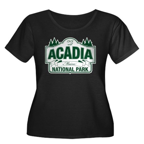 Acadia National Park Women's Plus Size Scoop Neck