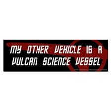 Vulcan Science Vessel (3) Bumper Bumper Sticker