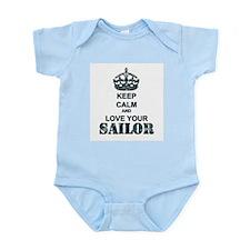 Keep Calm and LOVE Your Sailor Infant Bodysuit