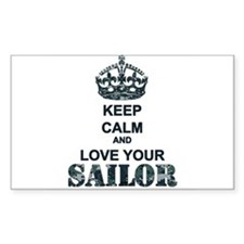 Keep Calm and LOVE Your Sailor Decal
