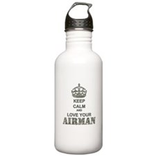 Keep Calm and LOVE Your Airman Water Bottle
