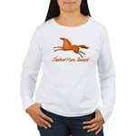 chestnut mare horse apparel Women's Long Sleeve T-