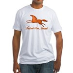 chestnut mare horse apparel Fitted T-Shirt
