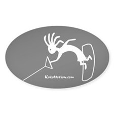 Kokopelli Wakeboarder Oval Decal