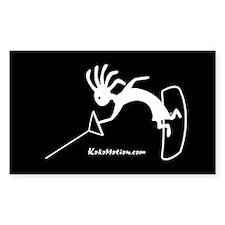 Kokopelli Wakeboarder Rectangle Decal