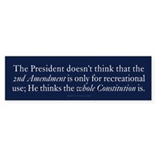 Recreational Constitution Bumper Sticker
