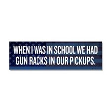 Gun Racks and Pickups Car Magnet 10 x 3