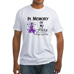 In Memory Alzheimers Fitted T-Shirt