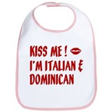 Kiss Me: Dominican &amp; Italian Bib