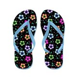 Hawaiian Style Colourful Flowers Flip Flops