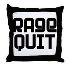 RAGE QUIT! Throw Pillow