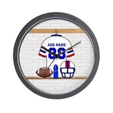 Personalized American Football Grid Iron WRB Wall
