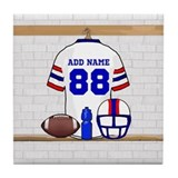 Personalized American Football Grid Iron WRB Tile