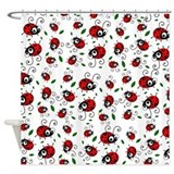 Cute Ladybug Pattern Shower Curtain