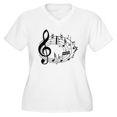 BASS (Speaker) Women's Plus Size V-Neck T-Shirt