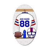Customizable red white and blue football grid iron