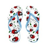 Cute ladybug pattern Flip Flops