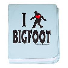 I HEART/LOVE BIGFOOT baby blanket