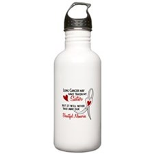 Beautiful Memories Lung Cancer Water Bottle