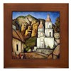 Ramos Martinez Texcoco Church Art Framed Tile
