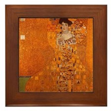 Gustav Klimt Adele Gold Framed Art Tile