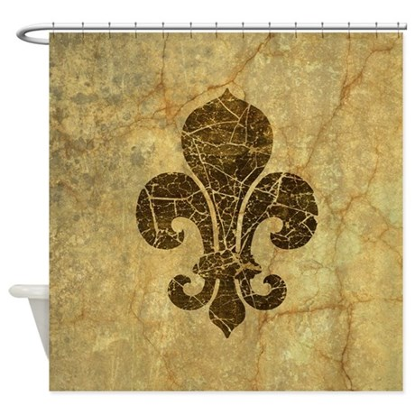 Fleur de lis cracked shower curtain by opheliasart002 - Fleur de lis shower curtains ...