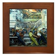 Diego Rivera Detroit Industry Framed Art Tile